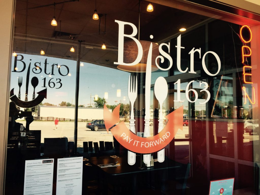 Bistro 163 Front Window